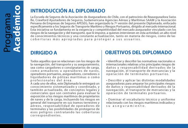 Diplomado Seguro del Transporte Marítimo y Riesgos Portuarios