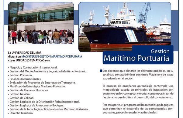 Magister en Gestion Maritimo Portuaria