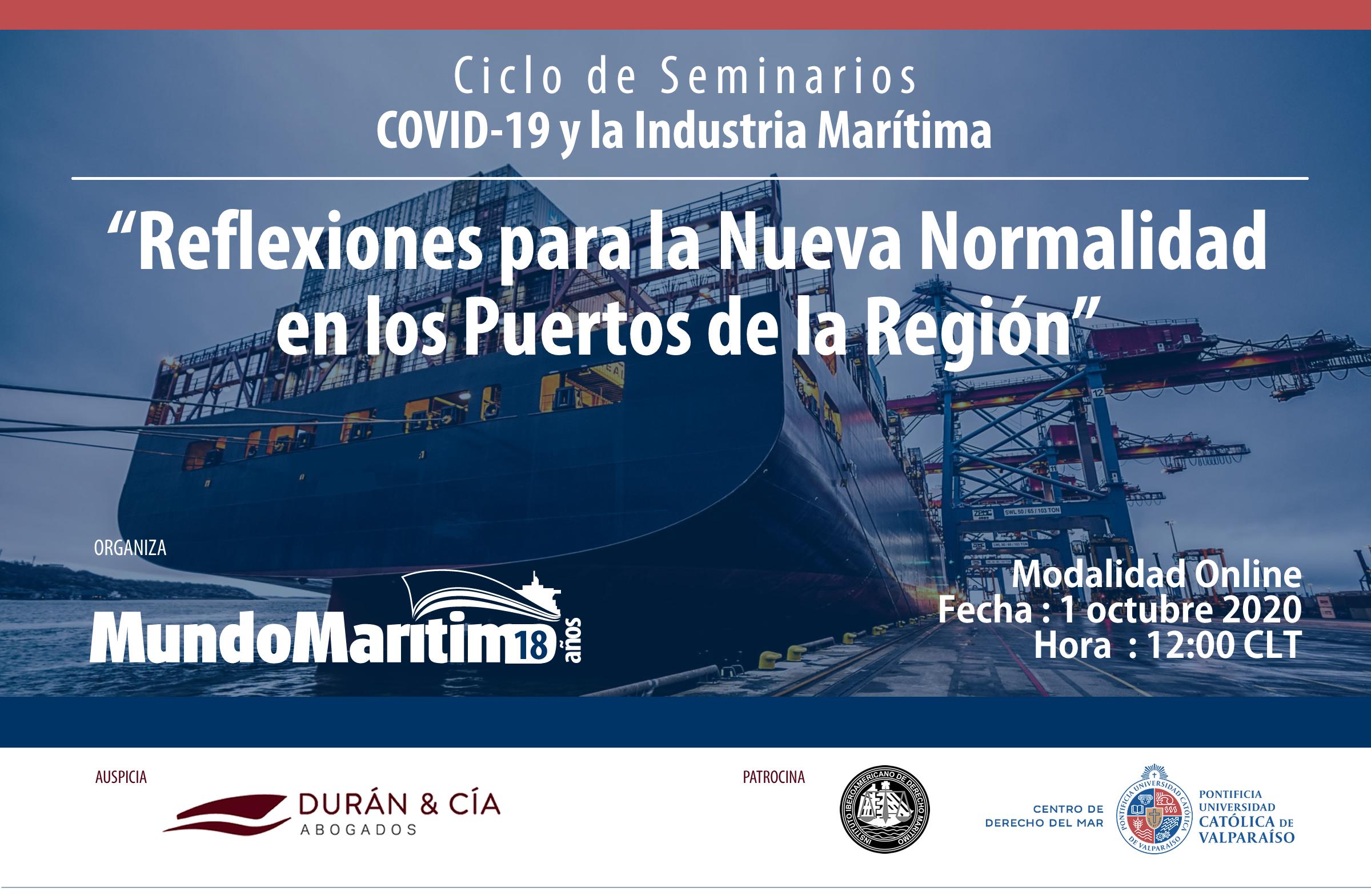 Reflexiones para la nueva normalidad en los puertos de la región